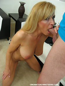 Busty Mom Takes Off and Teen Getting Plowed by Throbbing Dong