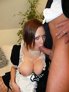 Old Man Kissing Beautiful Maid and Fucking Inside Room for Fun