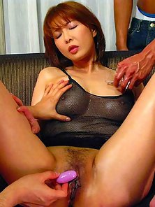 Aisan Redhead Babe Ryo Hirase Suck Two Dicks and Enjoys Cum Facial