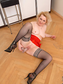Lovely Blonde Lady Riding Over Massive Dick for Satisfaction