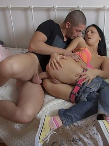 Appealing Girlfriend Teresa Gets Kissed And Fucked by Bald Lover