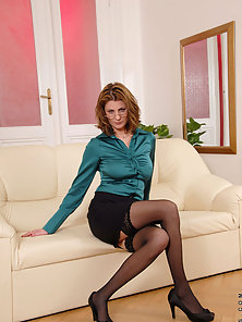 Sexy Secretary Giving Sexy Poses to Attract Viewers