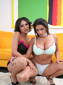 Two Hot Babes Making Lots of Fun Together Using Glass Dildo