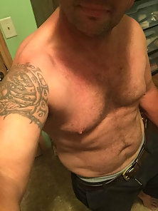 Just me with no shirt and horny.lol
