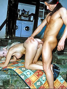 In POV Crazy Dude Banged Tight Cunts of Adorable Females in Threesome