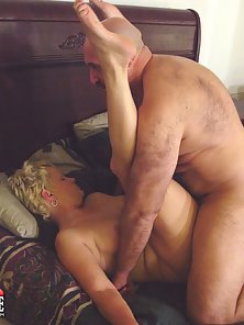 Blonde Mature Gets Rammed by Her Husband on Bed