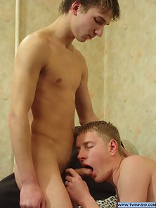 Hunky Young Gays Taking the Charm of Drinking In Pleasure of Gay Sex