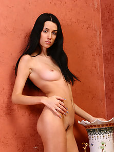 Brunette Chick Stripped Her Sexy Cloth in Closed Room
