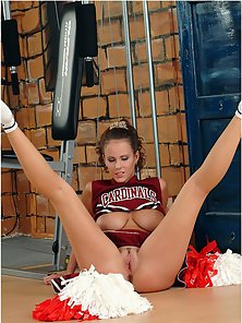 Busty Cheerleader Shows Private Dance in Front of Webcam