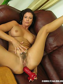 Lovely Lady Spreading Legs and Dildoing Herself to Get Pleasure
