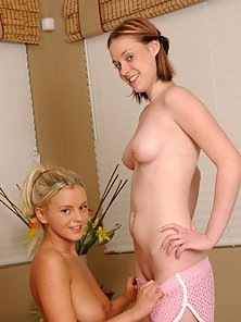 Beautiful Lesbian Girls Licked Their Pink Pussies in POV