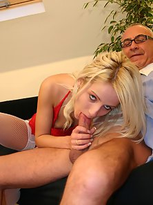 Blonde after Showing Pussy Riding on Her Partner Massive Dick