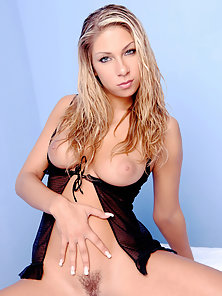 Blonde Nubile Spreading Legs and Touching Herself Her Hairy Twat