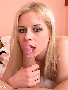 Blonde Nubile with Tiny Boobs Gets Huge Spunked on Lovely Face