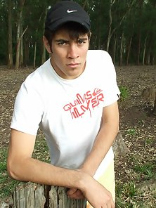 Awesome Striptease Pleasure By the Young Gay Outdoors