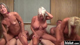 Old Couples Having Hardcore Sex in Group for Orgasm