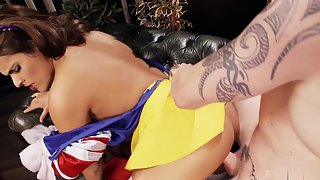 Snow White Loves Deep Penetration Inside Her Tight Pussy