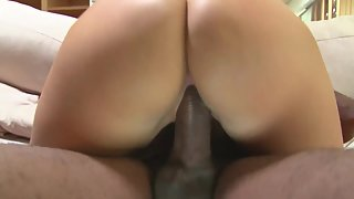 Black Dude Using His Meaty Shaft Drilling Beautiful Teen Pussy over Sofa