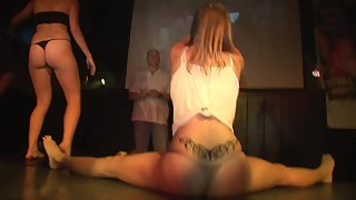 Naughty ass naked girls showing everything they got in stripper contest