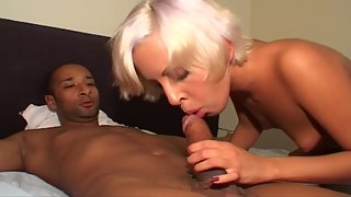 Blonde Sucking Dick and Enjoying Hardcore Sex with Dude