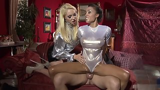 Two Adorable Babes Getting Threesome Hammered on Webcam
