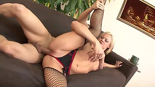Gorgeous Blonde Jasmine Loves Her New Boyfriend Cock Inside Her Tight Pussy