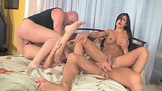 Sizzling Whores Banged by Their Dudes in Foursome Activity