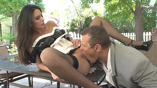 Lovely Lady Licked and Fucked Hard by Dude Outdoors for Longtime