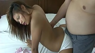 Petite Chick Fucked by Dude in Doggy Style in Front of Webcam