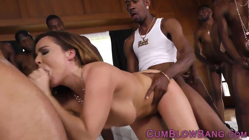 Busty Lady Fucked Hard by Black Dudes in Doggy Style