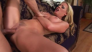 Bubble Ass Blonde Playing with Meaty Hard Shaft