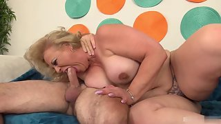 Mature Lady Kissing and Enjoying Sex with Partner