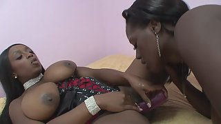 Black Ladies Using Sex Toys for Orgasm During Masturbation