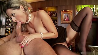 Stunning Blonde Took Cock Inside Pussy after Blowjob