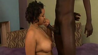 Busty Ebony Got Crazy after Seeing Boyfriend Massive Dick