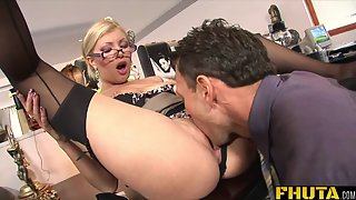 Blonde Secretary Gets Fucked