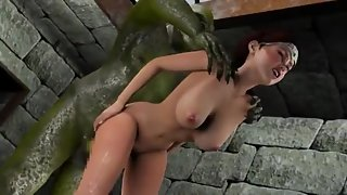 Tied Up Cartoon Got Her Pussy Rammed by Dude Until Cumshot