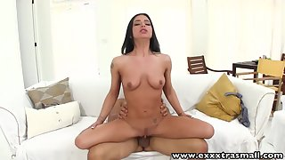 Super Sexy Latina Babe Receiver Huge Loads in Her Shaved Twat