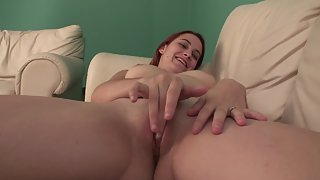 Naughty Lady Got Naked and Started Rubbing Pussy for Solo Satisfaction