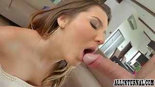 Gigantic Butted Babe Gets Sucked and Crushed Her Butt by a Cock