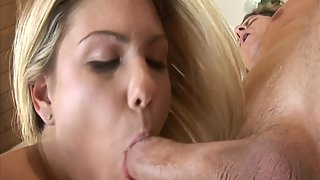 Blonde Taking Massive Dick Inside Shaved Pussy