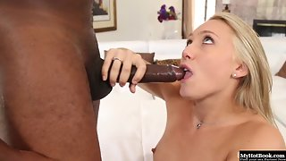 Blonde A.J. Applegate Enjoys Sucking Meaty Boner Indoors