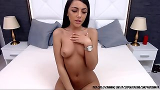 Curvy Slut after Stripping Dress Showing Fabulous Nude Figure in Front of Webcam