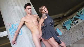 Granny Got Too Excited That She Starts Giving Blowjob to Grandson