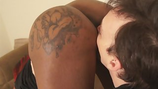 Bubble Ass Ebony Got Pussy Teased by Boyfriend before Interracial Sex