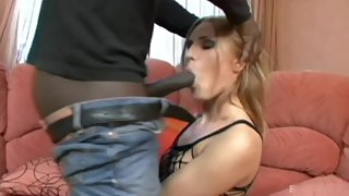 Black Stocking Babe Fucked Hard by Black Dude Inside Room