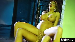 Busty babe Nika Noir hammered by a meaty cock