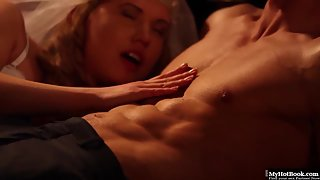 Charming Blonde Violette Before Pounding Gives Nice Blowjob with Handjob