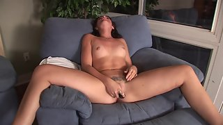 Naked Slut Putting Dildo inside Pussy and Making Herself Happy