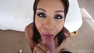 Busty Babe before Taking Cum on Face Fucked Hard for Longtime